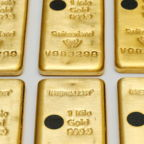 The Sicpa Oasis validator system (bullion protect) is pictured on one kilogram bar of gold at Swiss refiner Metalor in Marin near Neuchatel, Switzerland July 5, 2019. Picture taken July 5, 2019. To match Special Report GOLD-SWISS/FAKES REUTERS/Denis Balibouse - RC1B4E7636C0